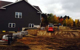 Retaining wall project in Zeeland