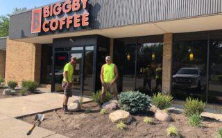 Biggby landscaping redo 2